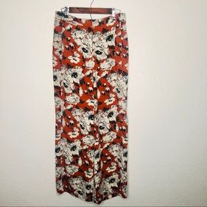 Carolina Belle Boho Floral Trousers Orange